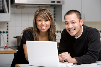 couple doing online banking