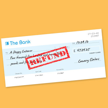 PPI refund cheque from Canary Claims
