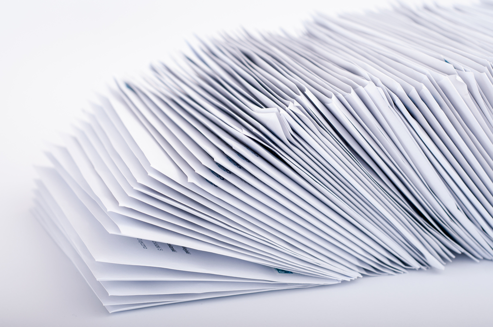 Stack of PPI claims forms
